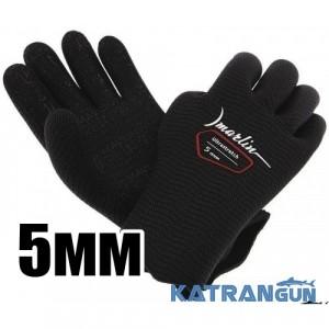 Рукавички неопренові Marlin Ultrastretch Black, 5 мм