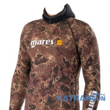 Лайкровая камуфляжная кофта Mares Rash Guard Camo Brown