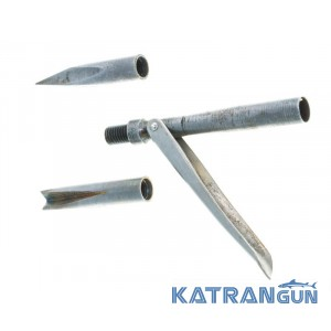 Однофлажковий наконечник для підводного полювання Marlin (чотиригранна головка + корона)