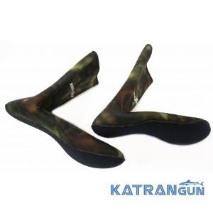 Шкарпетки для підводного полювання Sigma Sub Anaconda 7 мм; анатомічні; нейлон / відкрита пора