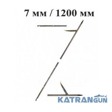 Гарпун Beuchat 7 мм; 1200 мм; со съемным наконечником, оцинкованный