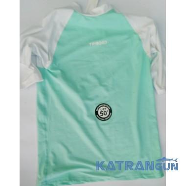 Лайкровая футболка для снорклинга Tribord, светло-бирюзовая, короткий рукав