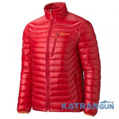 Легкий теплий чоловічий пуховик Marmot Quasar Jacket, Team Red