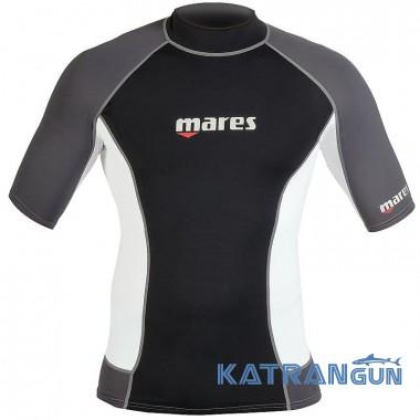 Футболка для купания мужская Mares Short Sleeve Trilastic Rash Guard