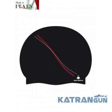 Силиконовая шапочка для бассейна Aqua Sphere Dakota, black/red
