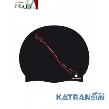 Силіконова шапочка для басейну Aqua Sphere Dakota, black / red