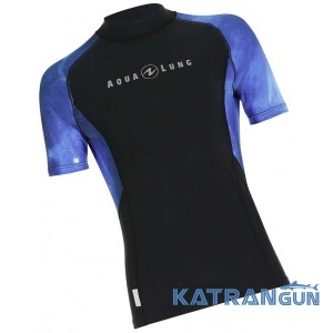 Чоловічий рашгард AquaLung Galaxy Blue, короткі рукава