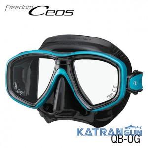 Маска для дайвинга Tusa Ceos black/blue