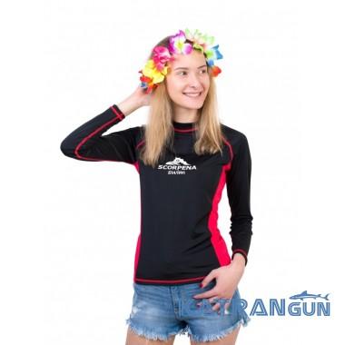 Лайкровая футболка для плавания женская Scorpena Swim