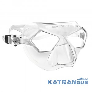 Маска для фридайвинга Salvimar Incredible;  прозрачный силикон/прозрачные линзы