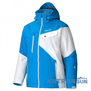 Куртка теплая для лыж и города Marmot Men's Tower Three Jacket, Methyl Blue/White