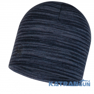 Теплая шерстяная Buff Midweight Merino Wool Hat denim multi stripes