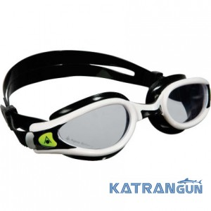 Очки для плавания Aqua Sphere Kaiman Exo; бело-чёрные; прозрачные линзы