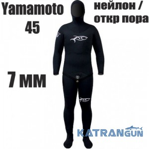 Гидрокостюм подводной охоты 7 мм XT Diving Pro Yamamoto 45; нейлон / открытая пора