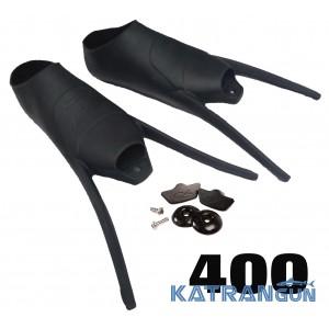 Калоши для ласт C4 400;  с набором для крепления лопастей (пара)