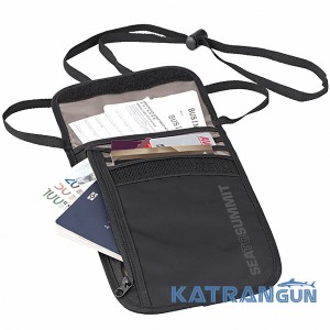 Гаманець на шию Sea to Summit Neck Wallet 5  (Black/Grey)