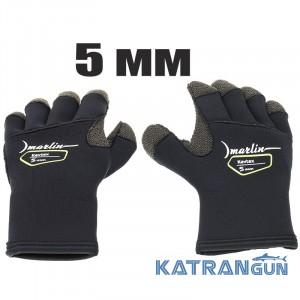 Перчатки для подводной охоты Marlin Kevtex 5 мм
