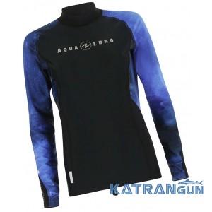 Жіноча футболка для плавання AquaLung Galaxy Blue, довгий рукав