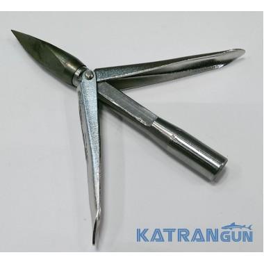 Наконечник для гарпуна со сменной головой KatranGun, два флажка, трёхгранный