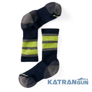 Дитячі шкарпетки середньої висоти SmartWool Kids 'Stripe Hike M Crew