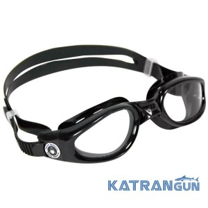 Подростковые очки для плавания Aqua Sphere Kaiman small; черные, линзы прозрачные