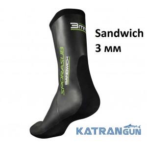 Шкарпетки для підводного полювання Omer Sandwich 3 мм