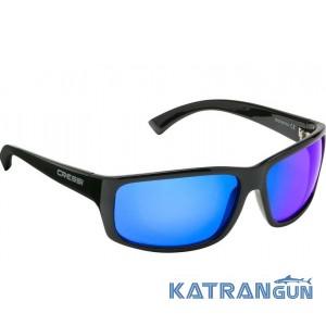 Міцні сонцезахисні окуляри Cressi Sub Morfeo Shiny Black Blue Mirrored