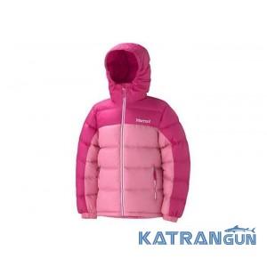 Детский пуховик Marmot Girl's Guides Down Hoody 77280, Pink Punch/Hot Pink