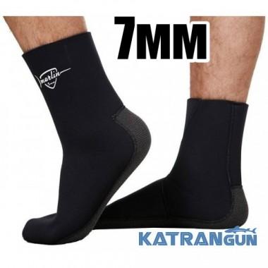 Неопреновые подводные носки Marlin Anatomic Kevlar, 7 мм