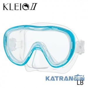 Комфортная маска для дайвинга Tusa Kleio 2 blue