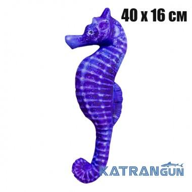 Подушка-игрушка Морской конек синий (40х16 см)
