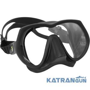 Безрамочная маска для дайвинга Poseidon Black Line Mask