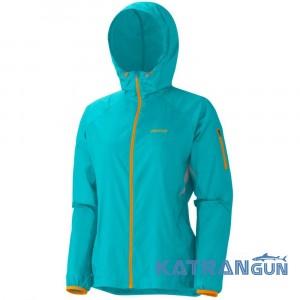 Отличная ветрозащитная куртка Marmot Women's Trail Wind Hoody, Island Blue