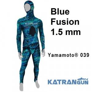 Літній гідрокостюм для підводного полювання Epsealon Blue Fusion 1.5 мм
