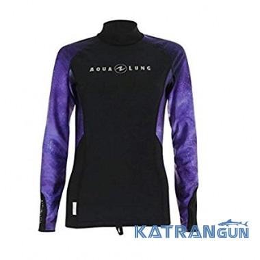 Теніска з довгим рукавом AquaLung Rashguard Galact Lady, Purple