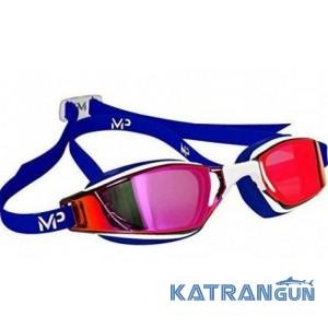 Стартовые очки Michael Phelps Xceed Limited Edition; линзы зеркально-красные