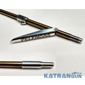 Гарпун резьбовой с лепестком Pelengas Magnum + втулка; калёный; 7 мм; 700 мм; под Pelengas 70