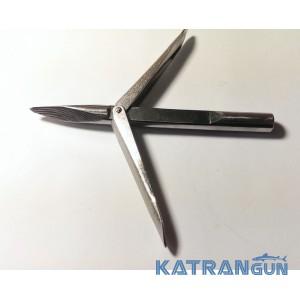 Накінечник підводної рушниці Katrangun Pro; подовжене підставу; тригранний; два прапорці