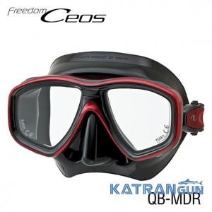 Надежная дайверская маска Tusa Ceos black/red
