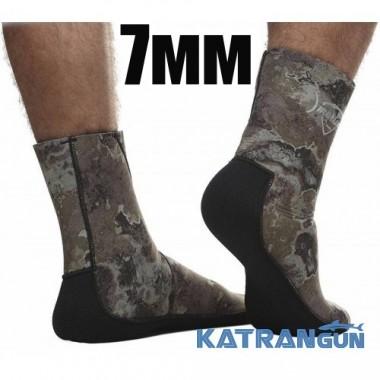 Неопреновые носки для подводной охоты Marlin Anatomic Duratex Green, 7 мм