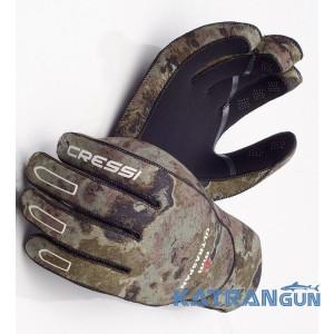 Перчатки подводной охоты CressiSub Ultraspan Camo 2,5 мм