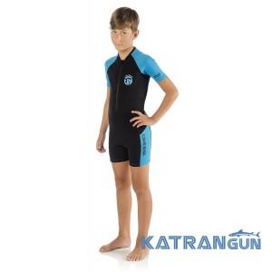 Детский гидрокостюм для плавания Cressi Sub Little Shark 2 мм; чёрно-синий; для мальчика