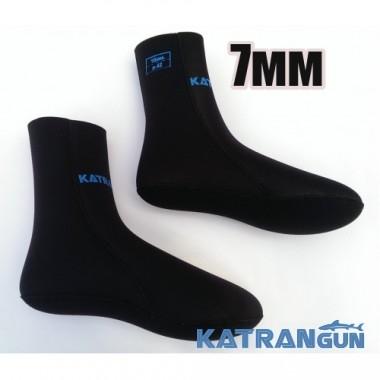 Неопреновые носки для ласт KatranGun 7 мм