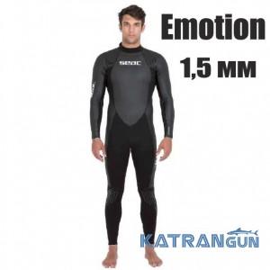 Мужской гидрокостюм для соревнования Seac Sub Emotion 1,5 мм