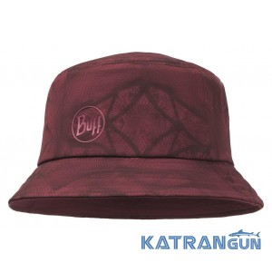 Чоловіча літня панама BUFF Trek Bucket Hat Calyx Dark Red