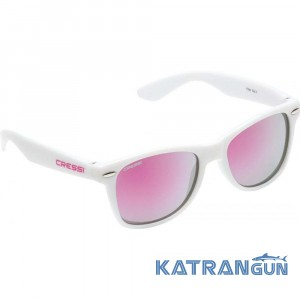 Детские очки от солнца Cressi Sub Maka; бело-розовые