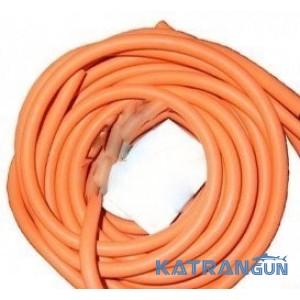 Латексна тяга BS Diver 18 мм; прозорий натуральний латекс в помаранчевій панчосі