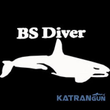 Пояс гумовий Bs Diver SUPERELAX BICOLOR з нержавіючою марсельською пряжкою, чорно-жовтий