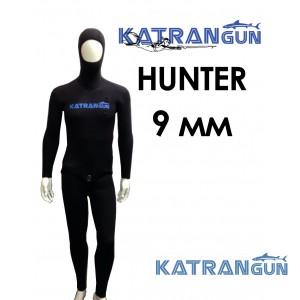 Гідрокостюм для підводного полювання взимку KatranGun Hunter 9 мм; короткі штани