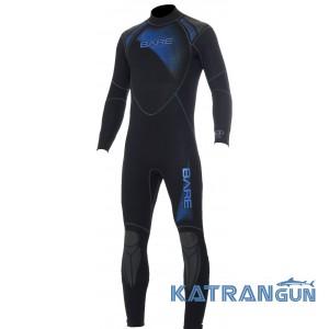 Удобный мужской гидрокостюм для дайвинга Bare Sport Full 5 мм